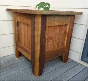 Oiled plant tub made with left over 100 x 25
